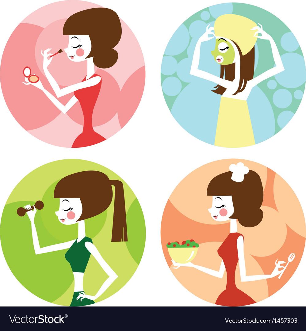 Female lifestyle vector | Price: 3 Credit (USD $3)