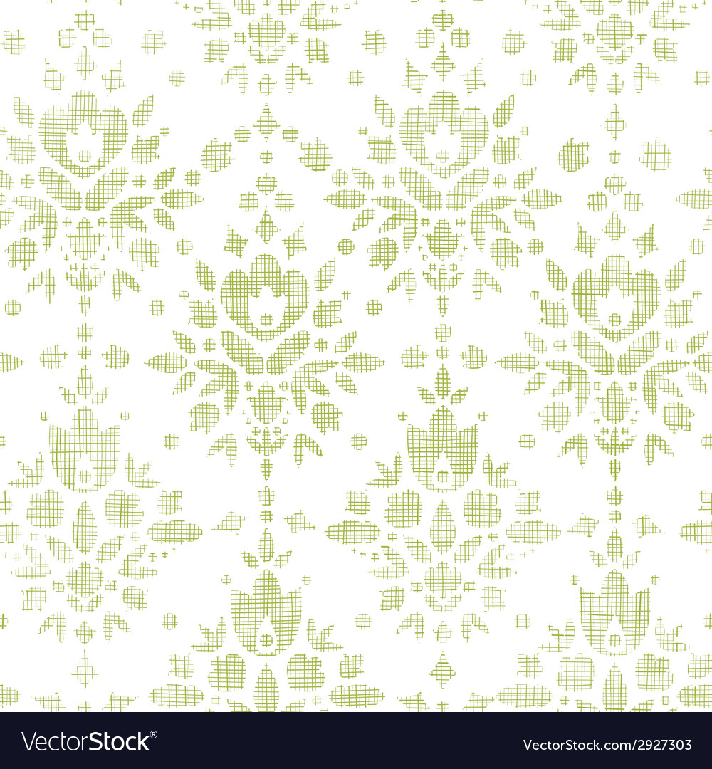 Green textile damask flower seamless pattern vector | Price: 1 Credit (USD $1)