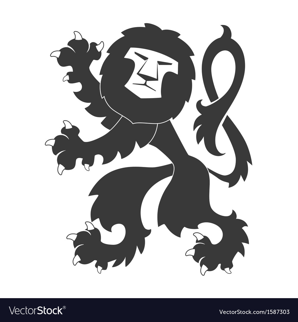 Heraldic lion 30 vector | Price: 1 Credit (USD $1)