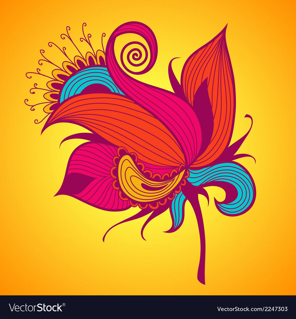 Holiday card with exotic flower vector | Price: 1 Credit (USD $1)