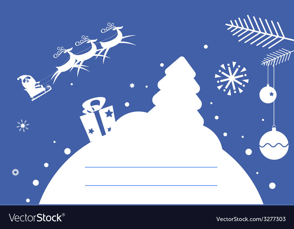 Holiday post card design vector | Price: 1 Credit (USD $1)