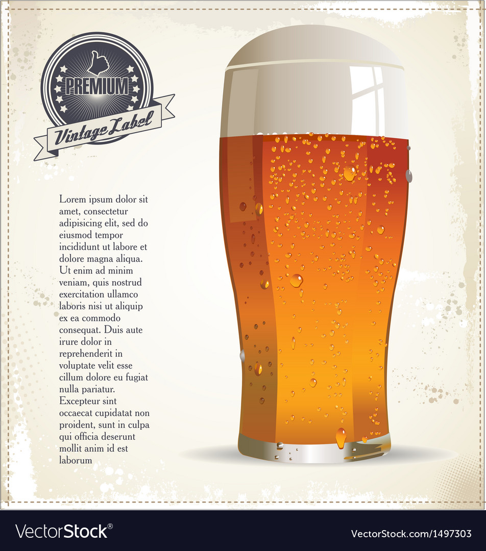 Ice cold beer background vector   Price: 1 Credit (USD $1)