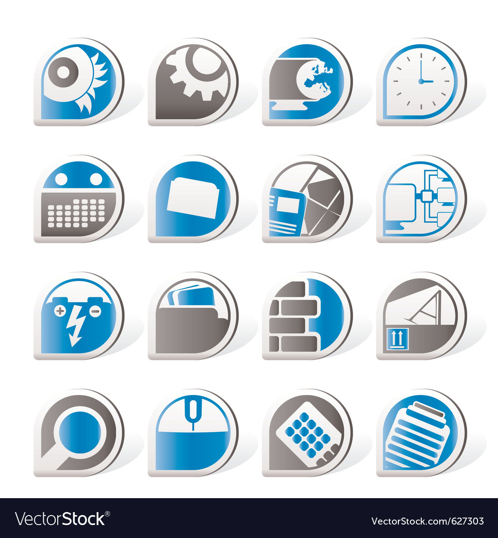 Mobile phone and internet icons vector | Price: 1 Credit (USD $1)
