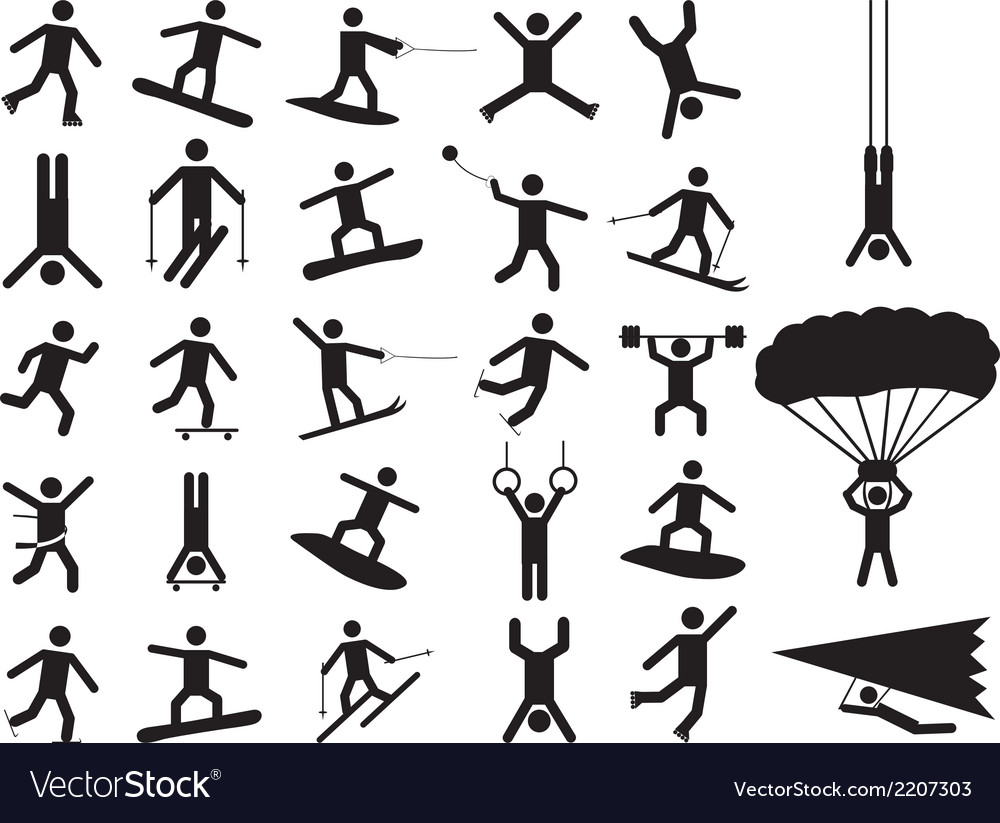 Pictogram people doing extreme sports vector | Price: 1 Credit (USD $1)