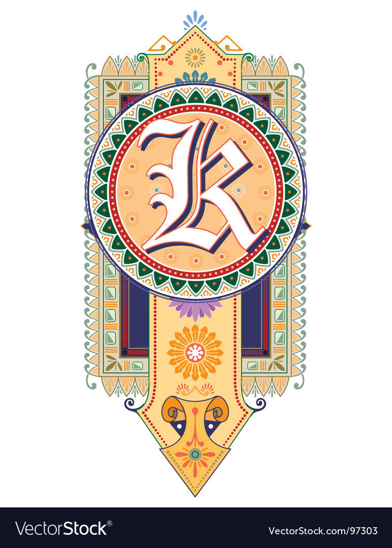 Royal letter k vector | Price: 1 Credit (USD $1)