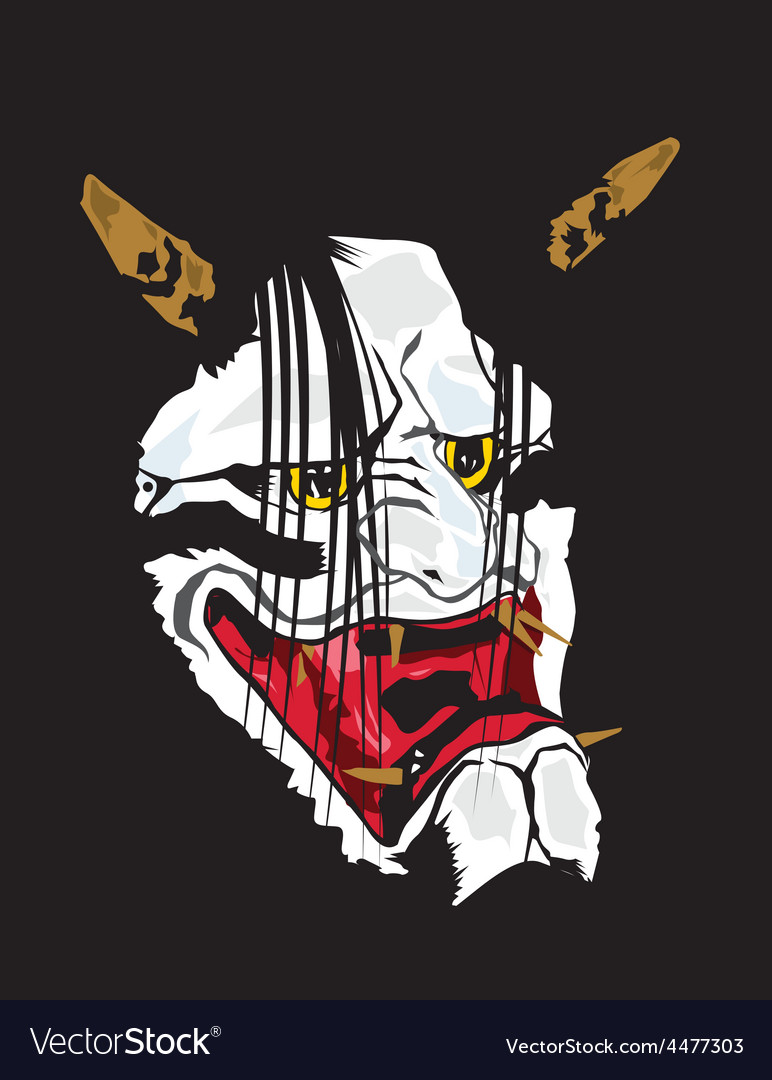 Samurai mask vector | Price: 1 Credit (USD $1)