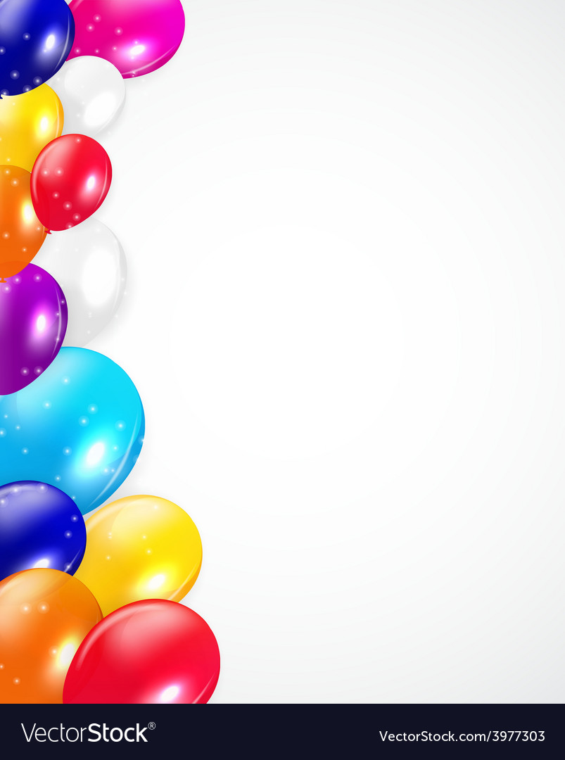 Set of colored balloons vector | Price: 1 Credit (USD $1)
