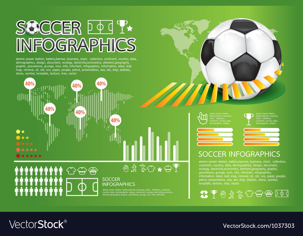 Soccer info graphic vector | Price: 1 Credit (USD $1)
