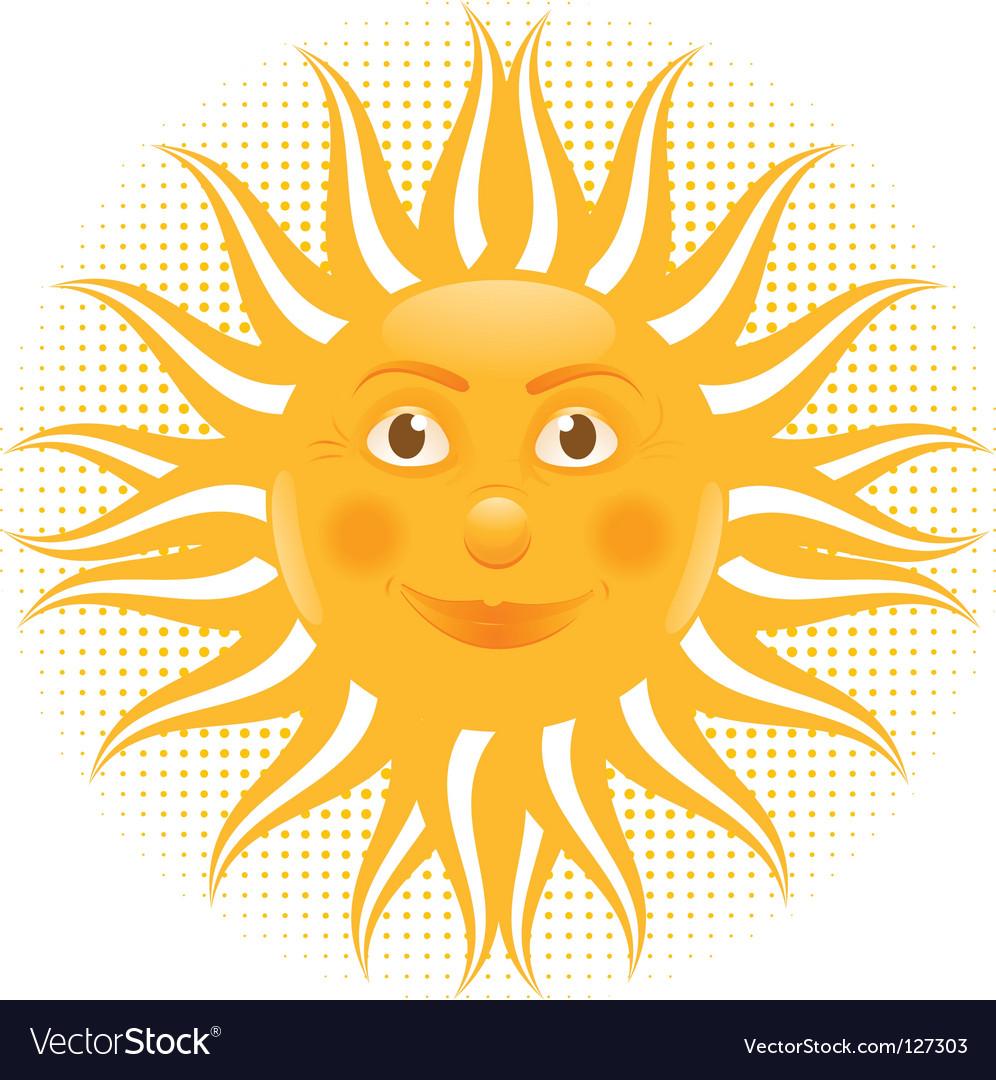 Sun man cartoon vector