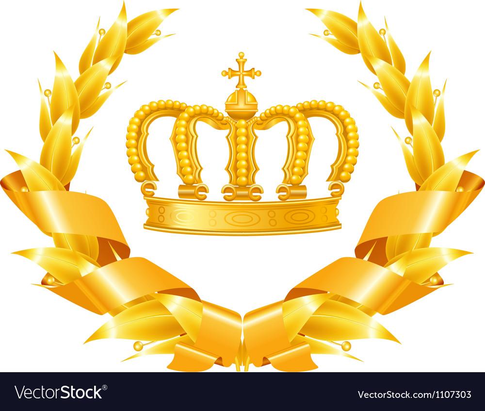 Vintage emblem gold vector | Price: 3 Credit (USD $3)