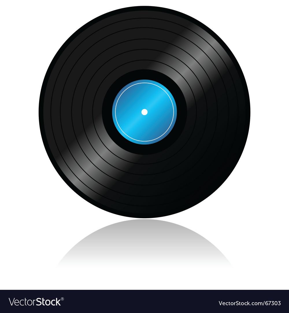 Vinyl record with reflex vector | Price: 1 Credit (USD $1)