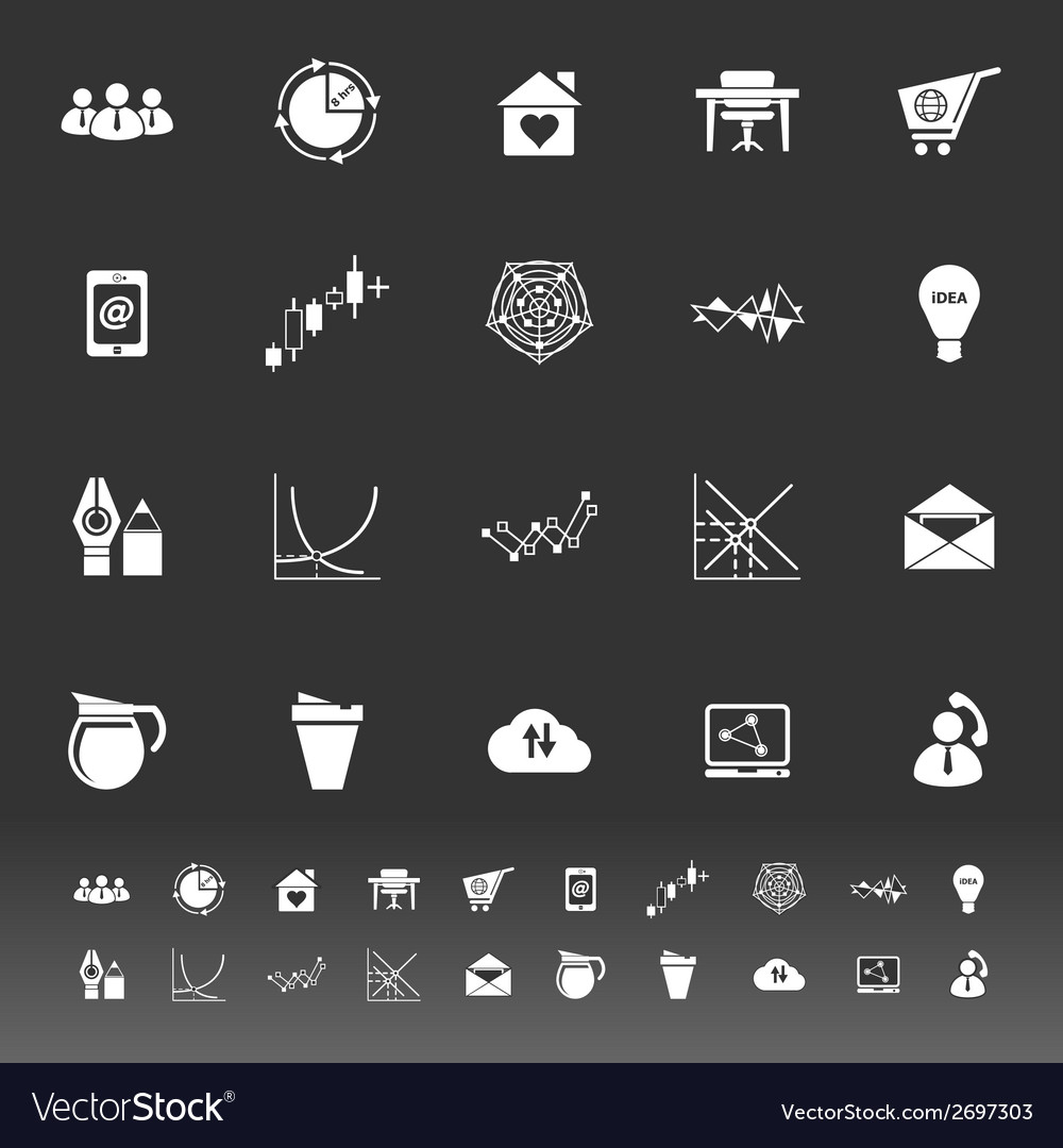 Virtual organization icons on gray background vector | Price: 1 Credit (USD $1)