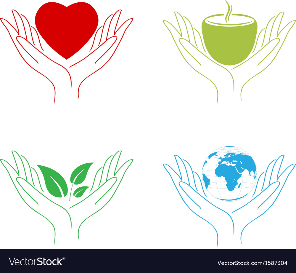 Abstract care hands vector | Price: 1 Credit (USD $1)