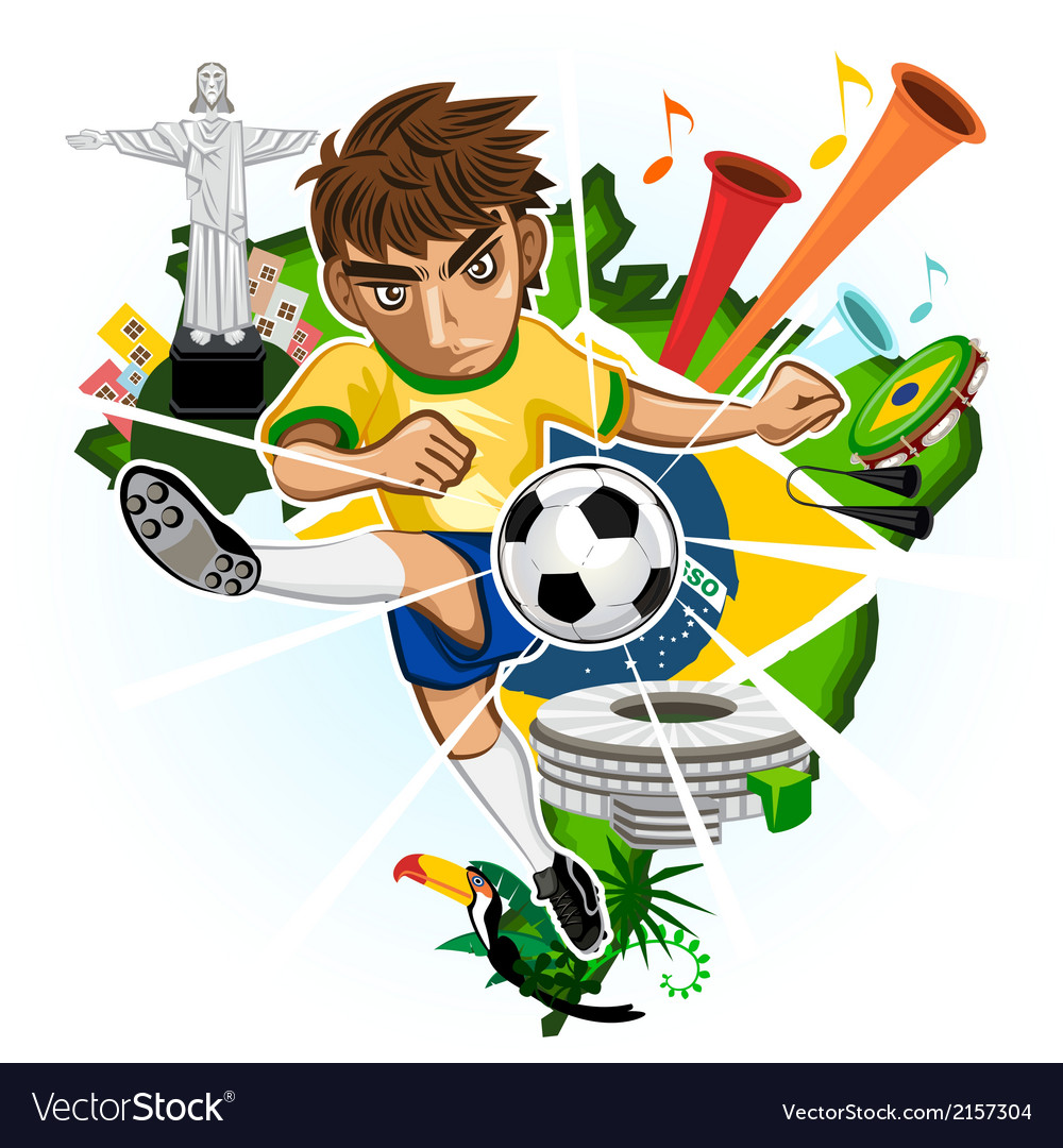 Brazil cup vector | Price: 1 Credit (USD $1)