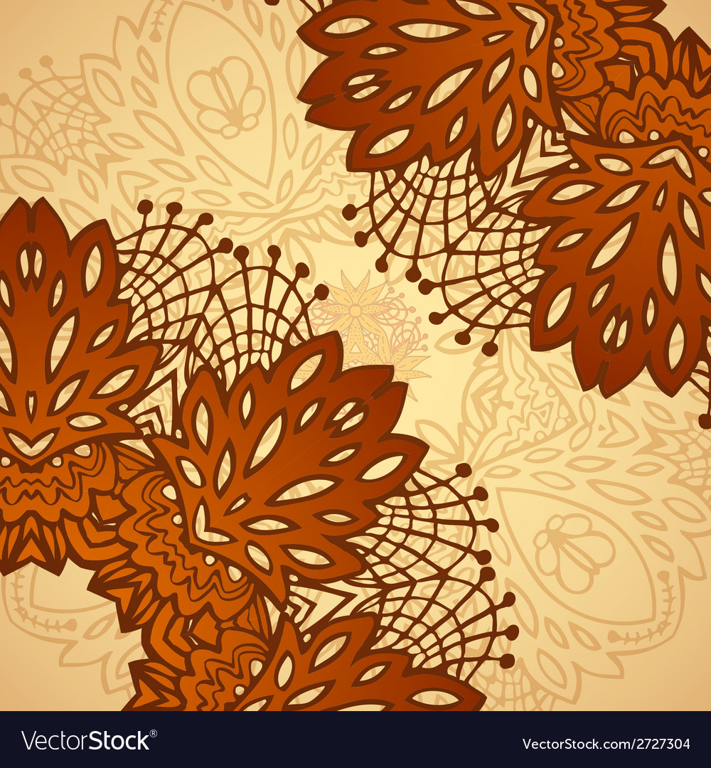 Chocolate flower lace pattern vector | Price: 1 Credit (USD $1)