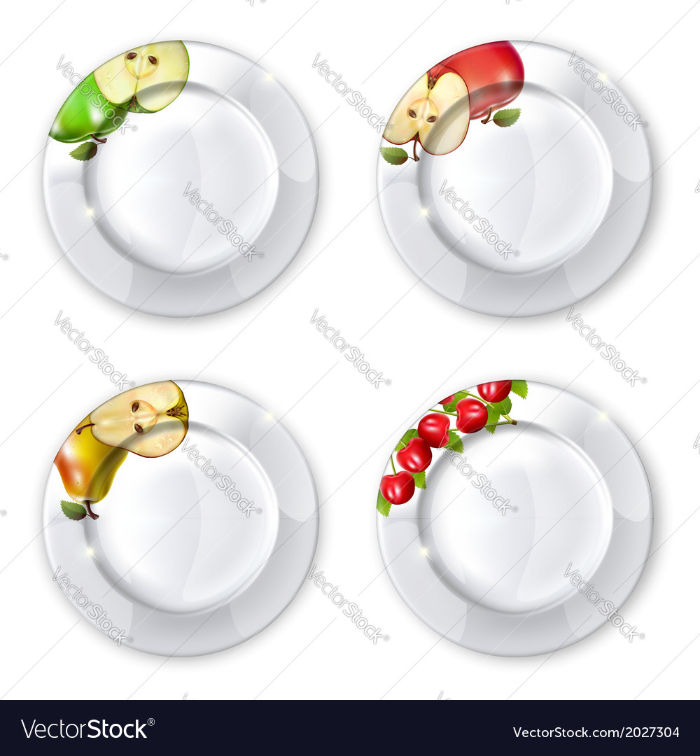 Collection of plates vector   Price: 1 Credit (USD $1)