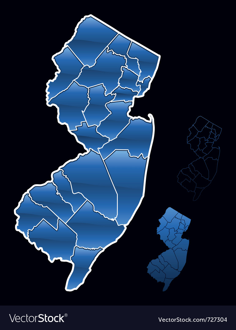 Counties of new jersey vector | Price: 1 Credit (USD $1)