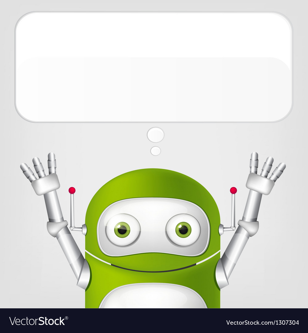 Cute robot vector | Price: 1 Credit (USD $1)