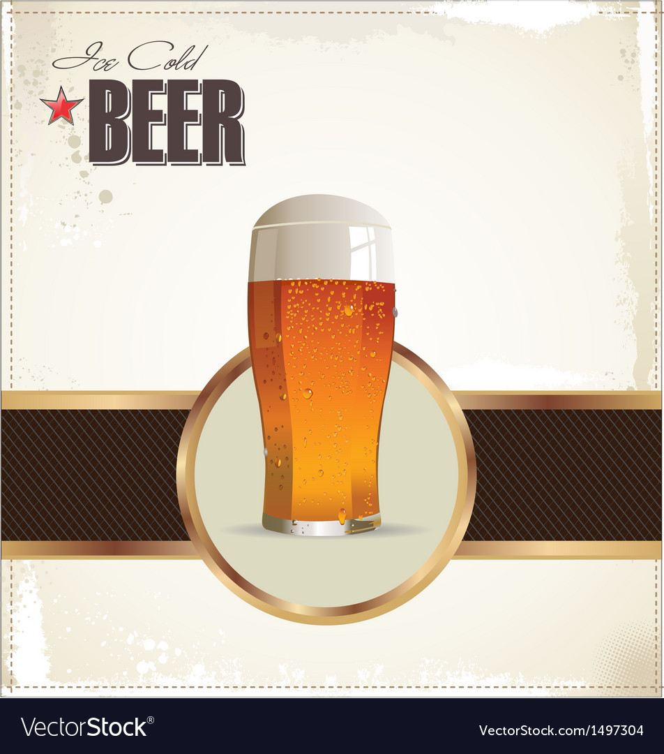 Ice cold beer background vector | Price: 1 Credit (USD $1)