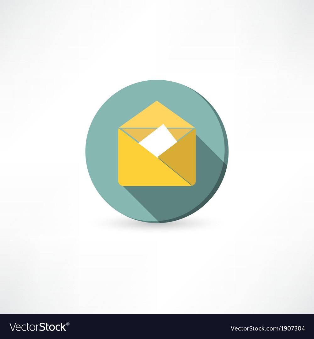 Open yellow envelope vector | Price: 1 Credit (USD $1)