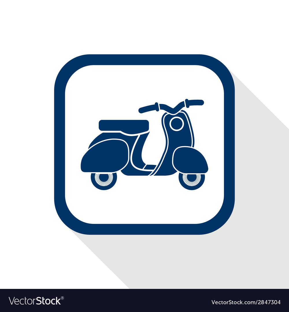 Scooter flat icon vector | Price: 1 Credit (USD $1)