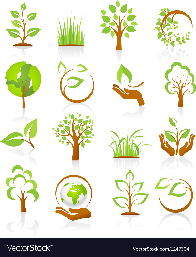 Set of nature icons vector | Price: 3 Credit (USD $3)