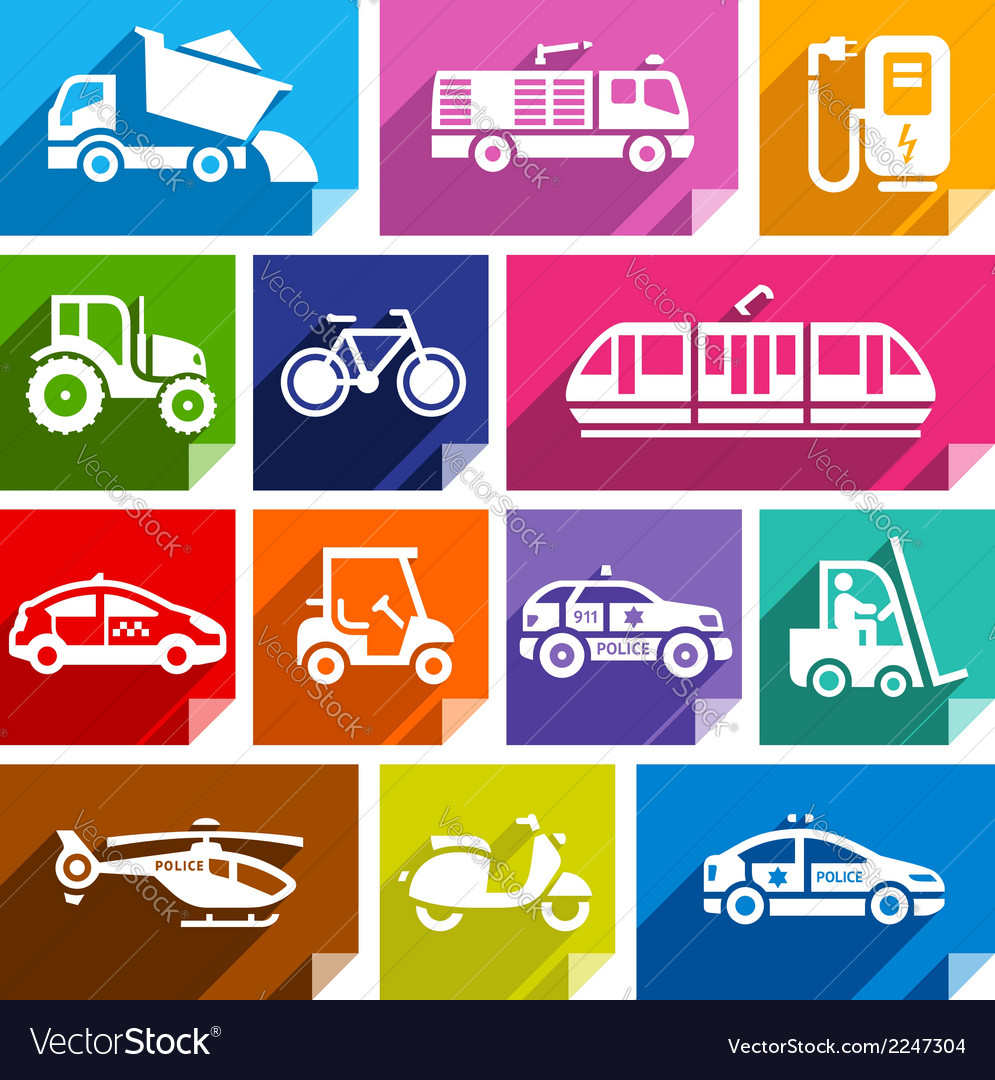 Transport flat icon bright color-04 vector | Price: 1 Credit (USD $1)