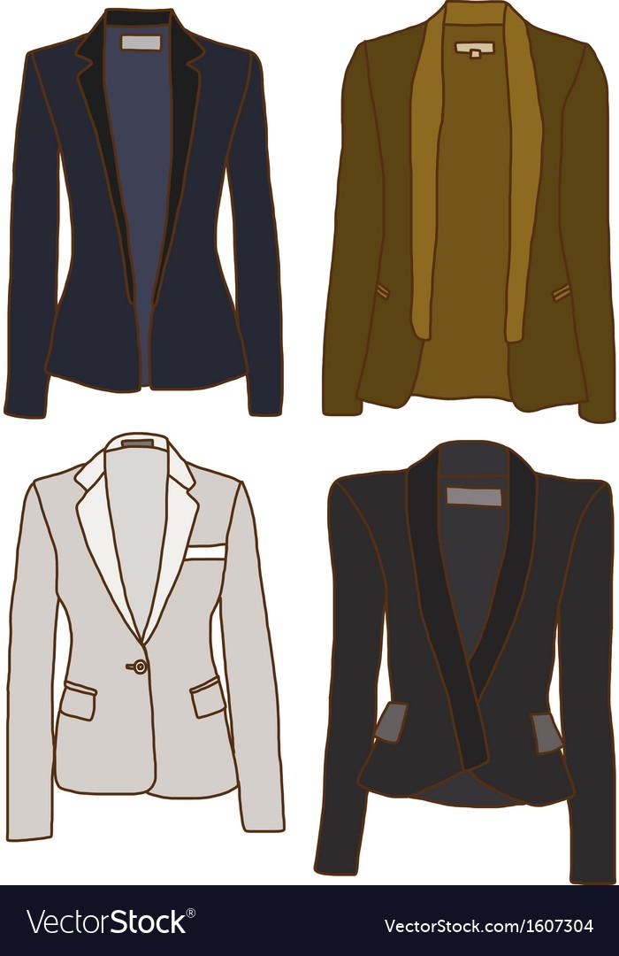 Women jackets vector | Price: 1 Credit (USD $1)
