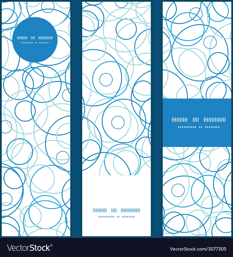 Abstract blue circles vertical banners set pattern vector | Price: 1 Credit (USD $1)