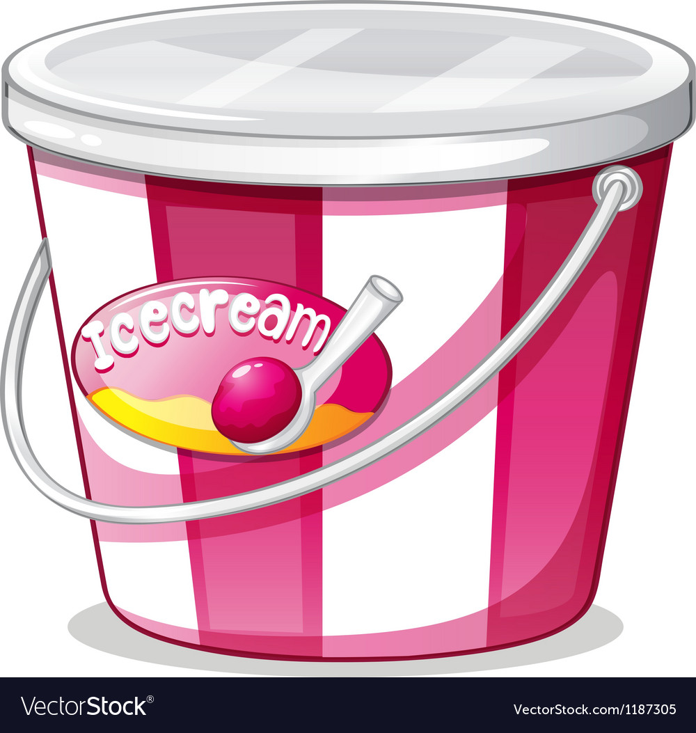 An ice cream bucket vector | Price: 1 Credit (USD $1)