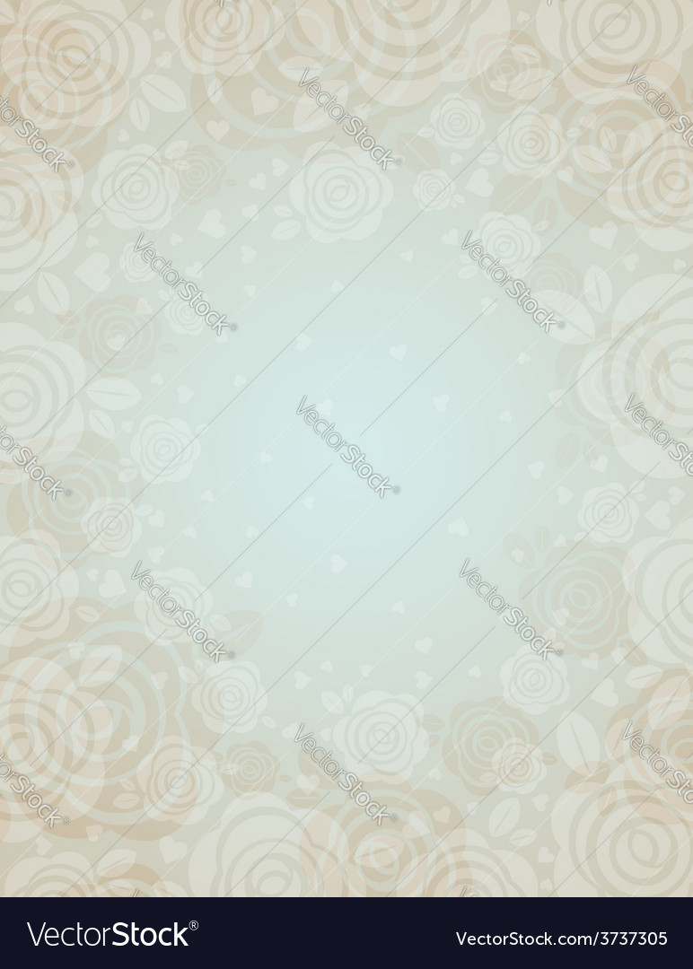 Beige background with roses vector | Price: 1 Credit (USD $1)