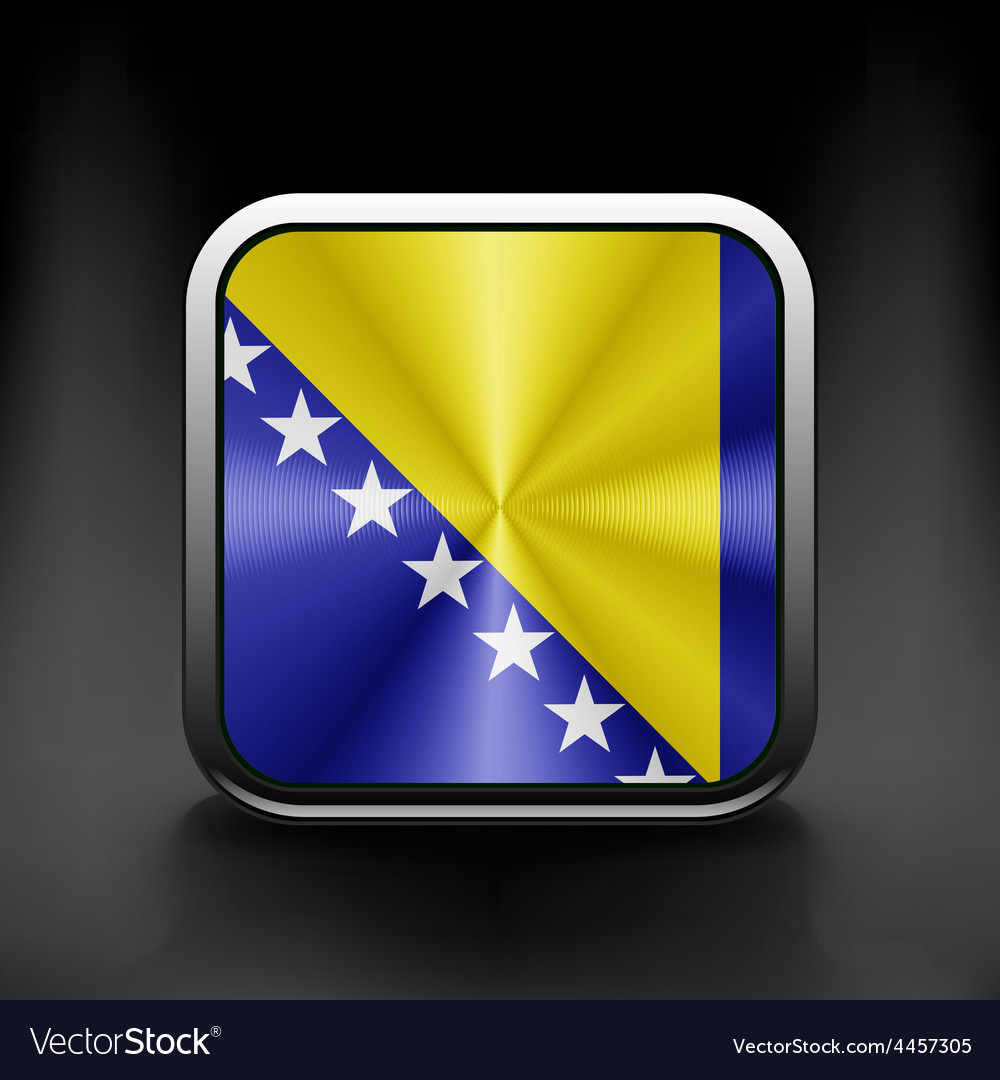 Bosnia and herzegovina icon flag national travel vector | Price: 1 Credit (USD $1)