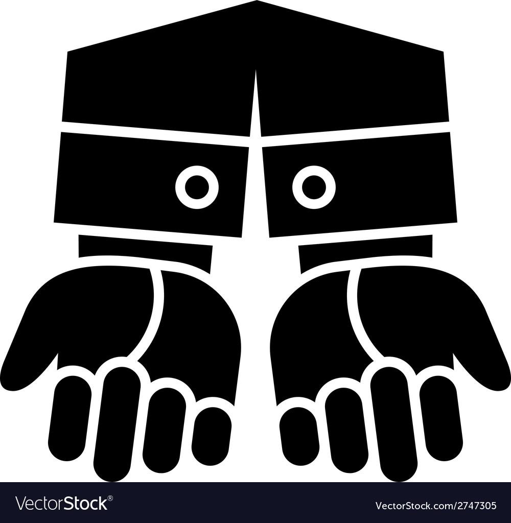 Clean gesturing hands vector | Price: 1 Credit (USD $1)