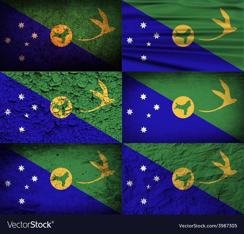 Flag of christmas island with old texture vector | Price: 1 Credit (USD $1)