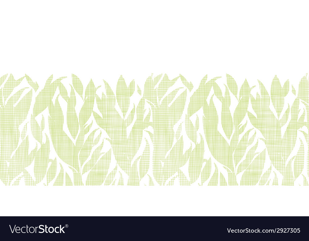 Green leaves textile texture horizontal seamless vector | Price: 1 Credit (USD $1)