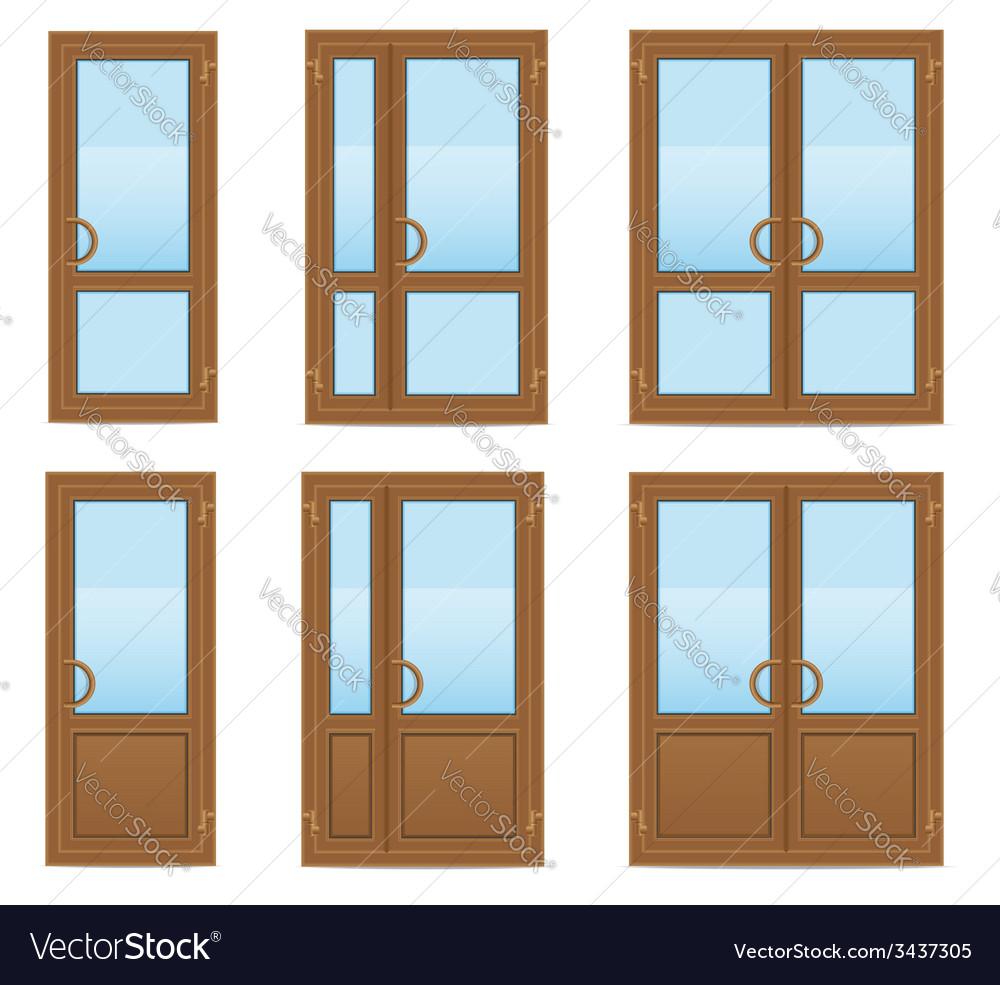 Plastic doors 08 vector   Price: 1 Credit (USD $1)