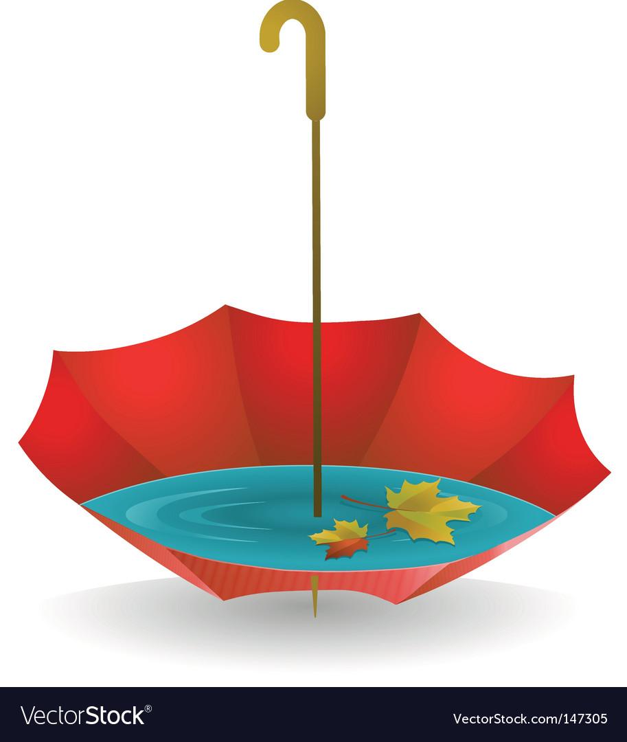 Red umbrella vector | Price: 1 Credit (USD $1)