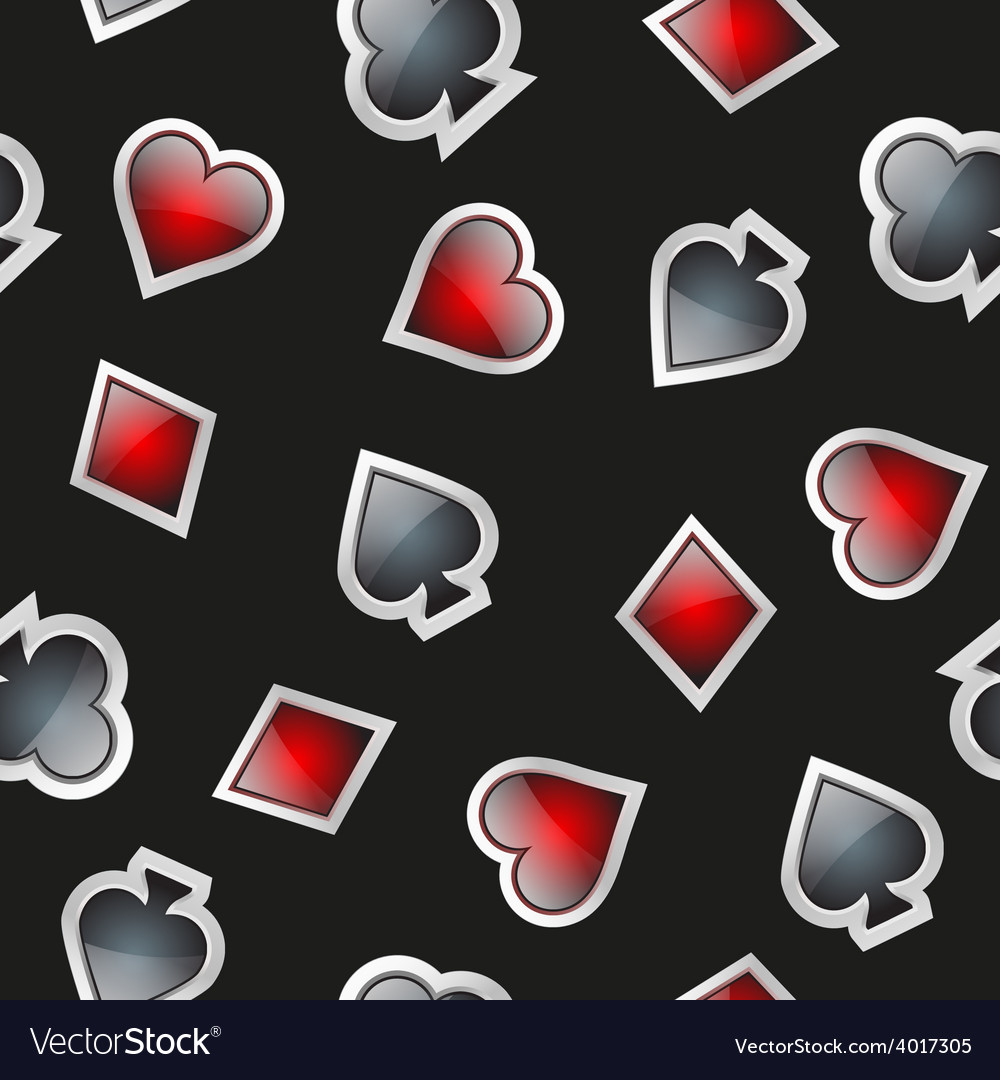 Universal casino cards seamless patterns vector | Price: 1 Credit (USD $1)