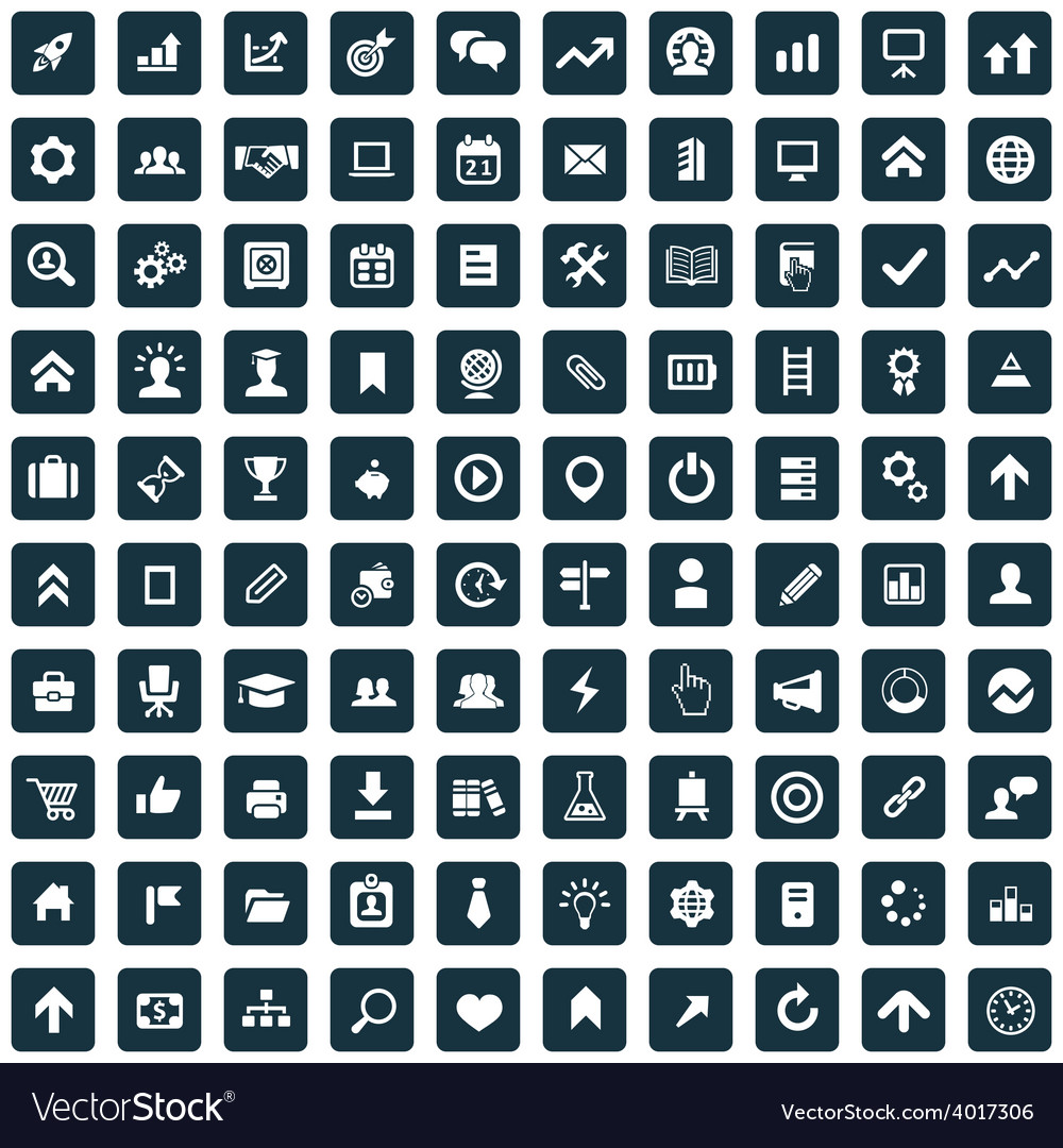 100 startup icons vector   Price: 1 Credit (USD $1)