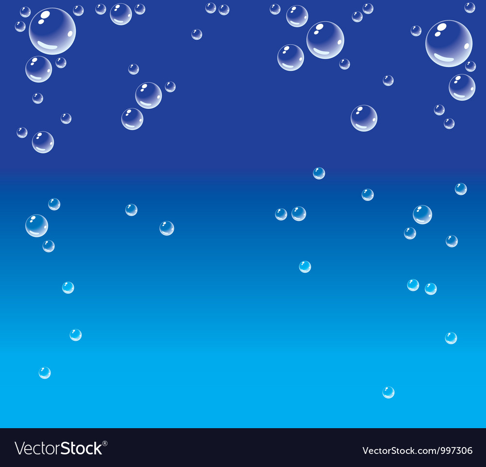 Bubbles in water vector | Price: 1 Credit (USD $1)