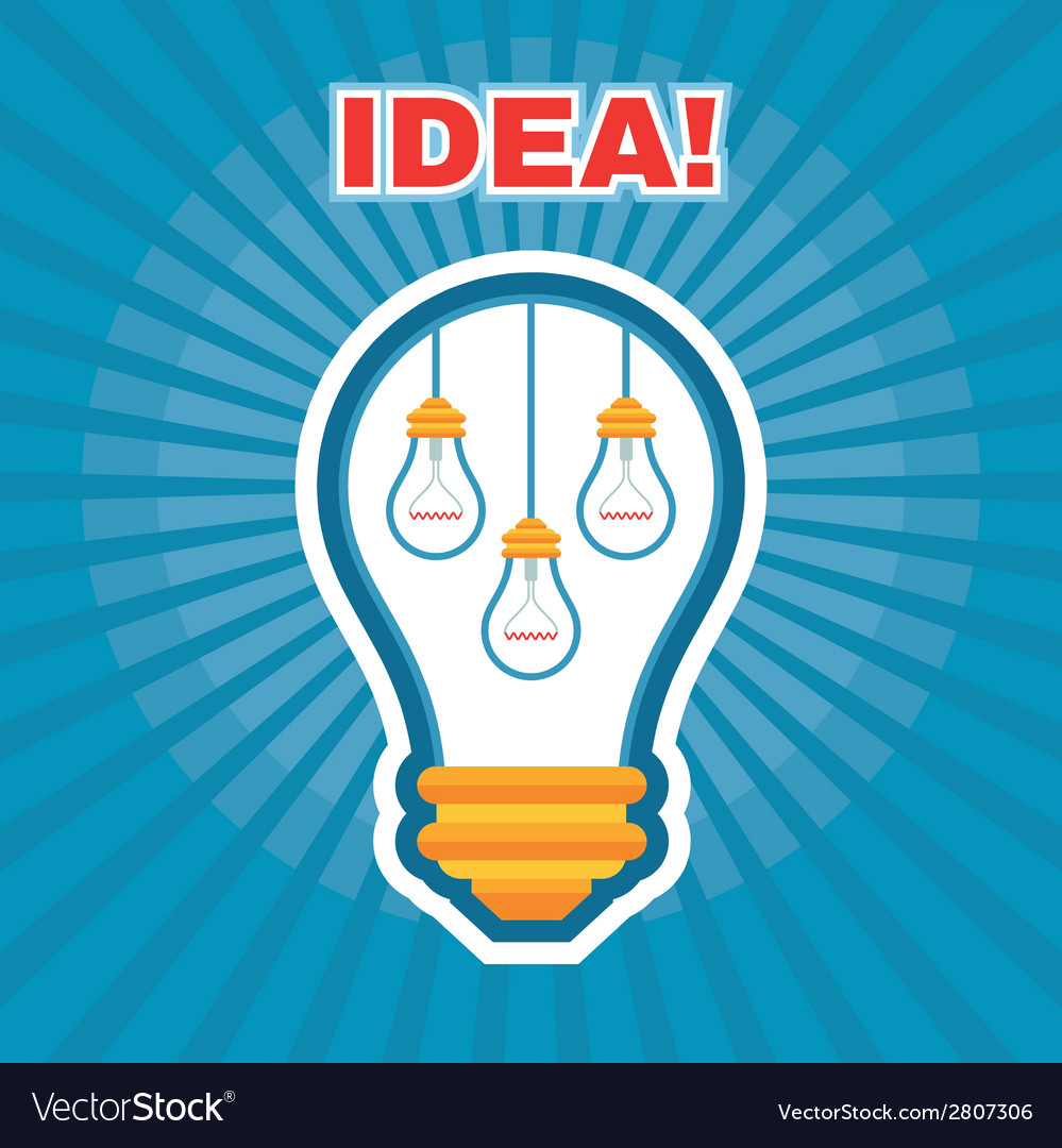 Creative idea - light bulb concept vector | Price: 1 Credit (USD $1)