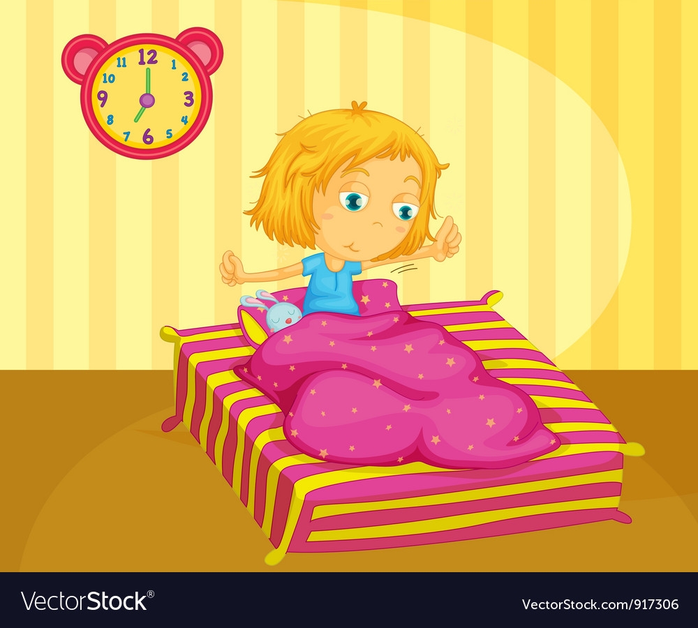 Girl waking vector   Price: 3 Credit (USD $3)