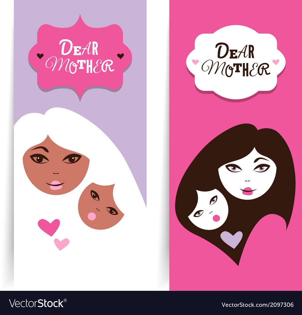 Happy mothers day banners vector | Price: 1 Credit (USD $1)