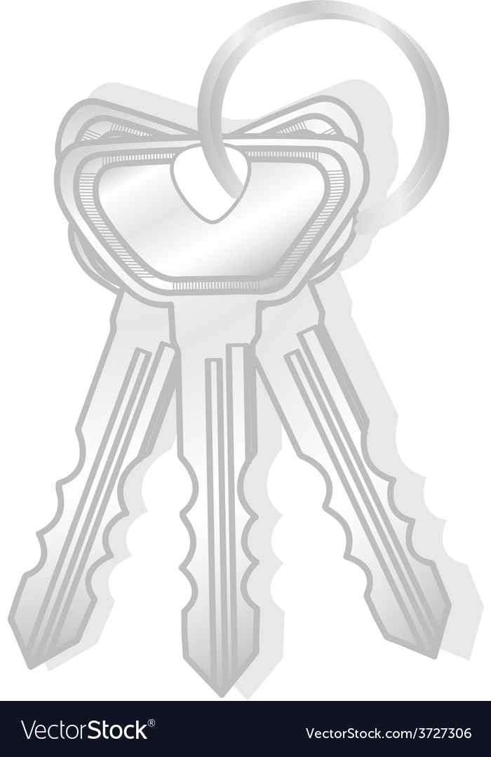 Keys isolated vector   Price: 1 Credit (USD $1)