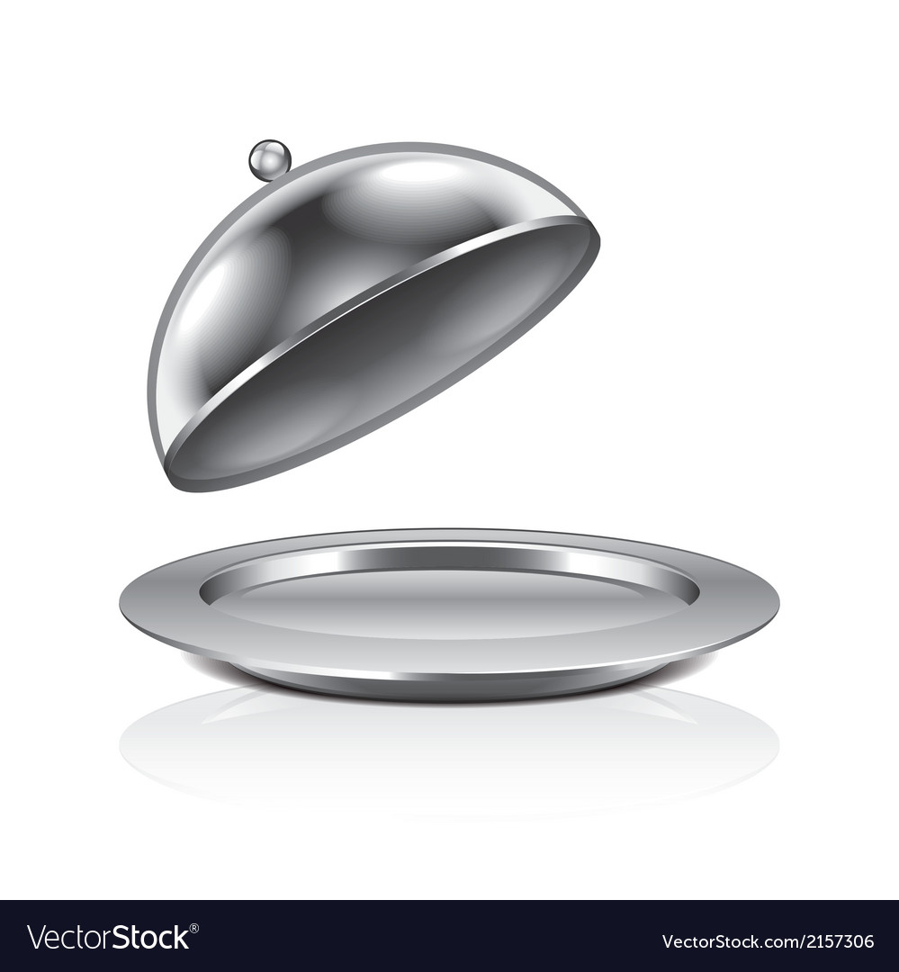 Object cloche and tray vector | Price: 1 Credit (USD $1)
