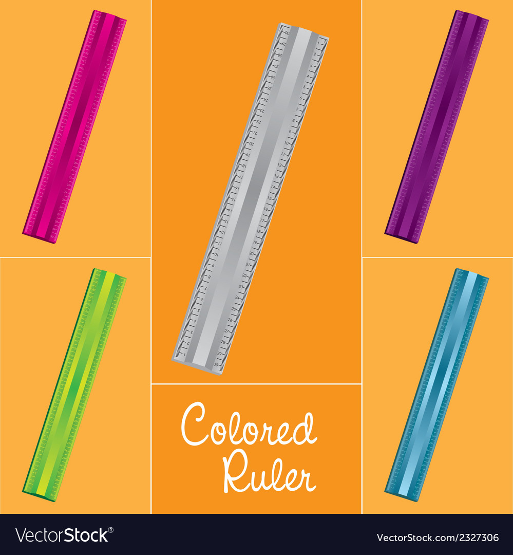 Rules set over orange background with 5 diferent c vector | Price: 1 Credit (USD $1)