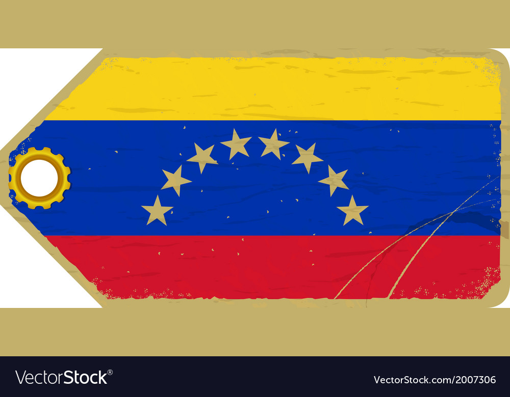 Vintage label with the flag of venezuela vector | Price: 1 Credit (USD $1)