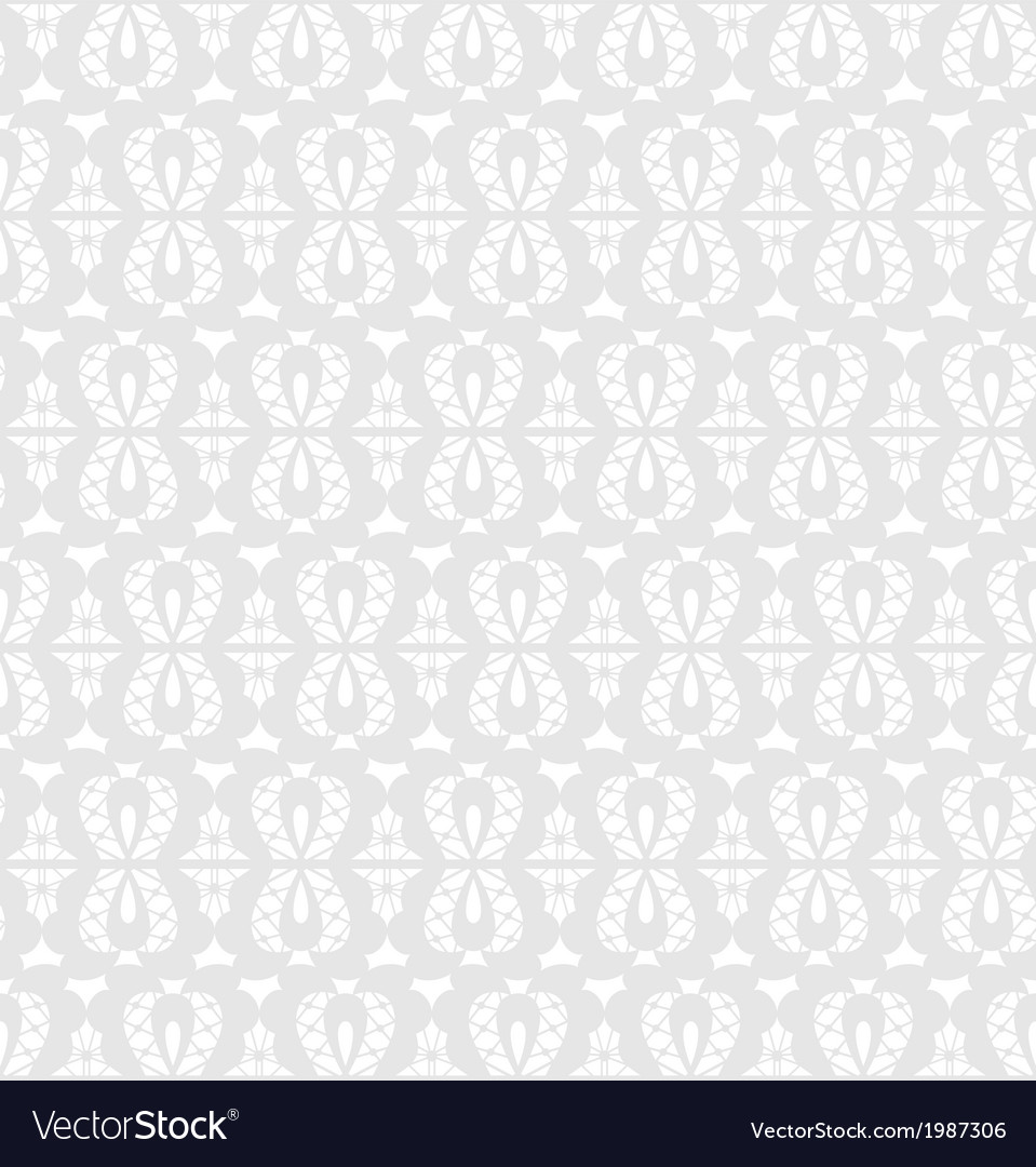 White seamless lace floral pattern on gray vector | Price: 1 Credit (USD $1)