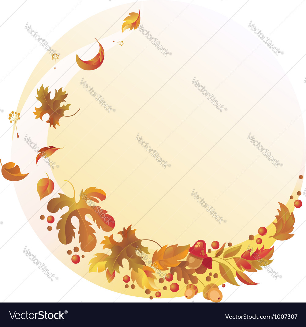 Autumn background with flying leaves vector | Price: 1 Credit (USD $1)