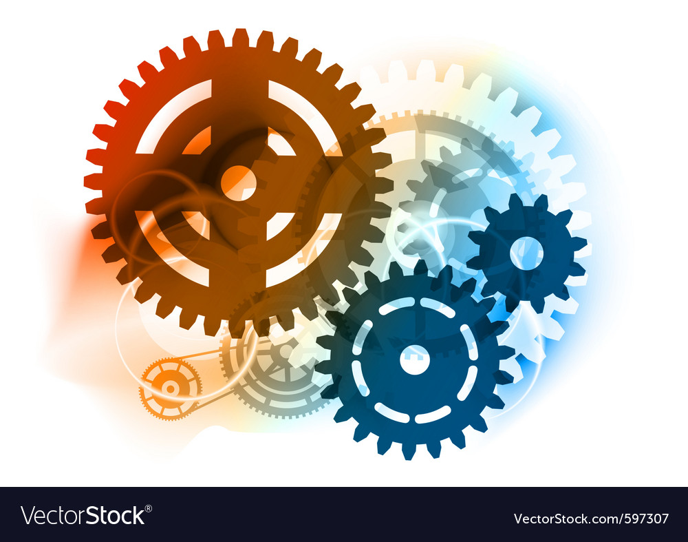 Cogwheel background vector | Price: 1 Credit (USD $1)